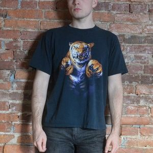 Epic Tiger Front and Back Graphic T-Shirt 🐅